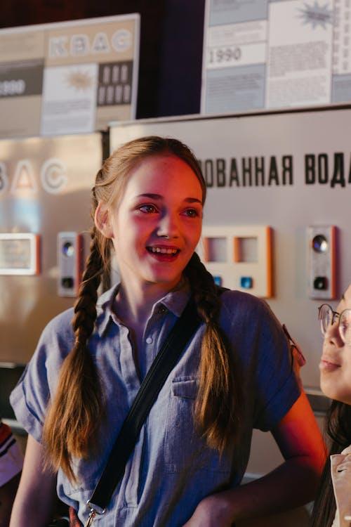 剝離, 售貨機, 女孩 的 免費圖庫相片