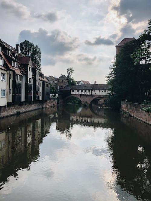 Ilmainen kuvapankkikuva tunnisteilla arkkitehtuuri, heijastus, joki