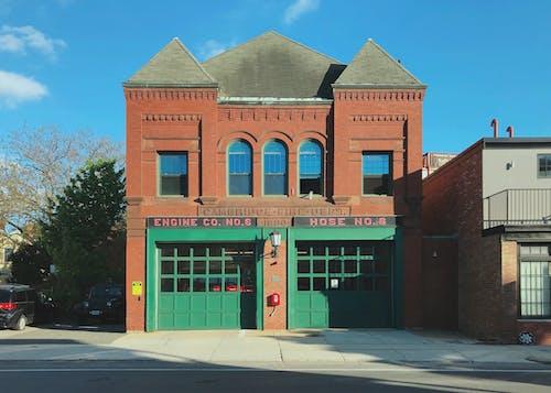 Free stock photo of architecture, blue sky, boston, bricks
