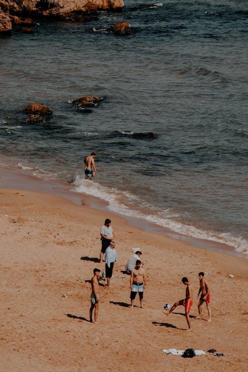 Бесплатное стоковое фото с Аэрофотосъемка, берег моря, вертикальный выстрел
