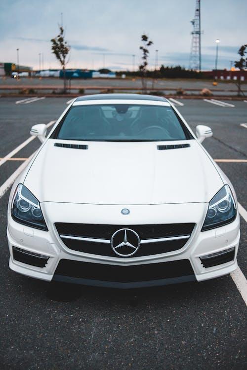 White Mercedes Benz Car on Road