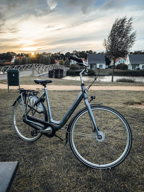 Free stock photo of architecture, bike, cadzand, contrast