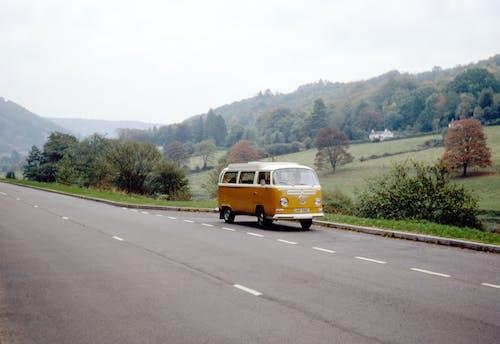 Yellow Van on Road
