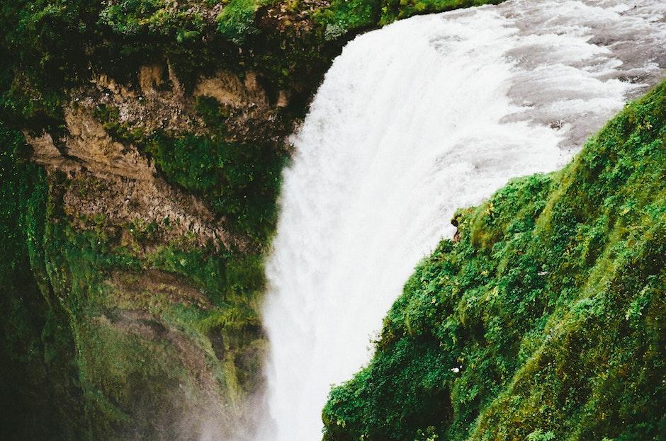 deep, steep, waterfall