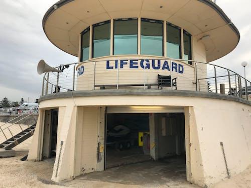 Free stock photo of lifeguard post