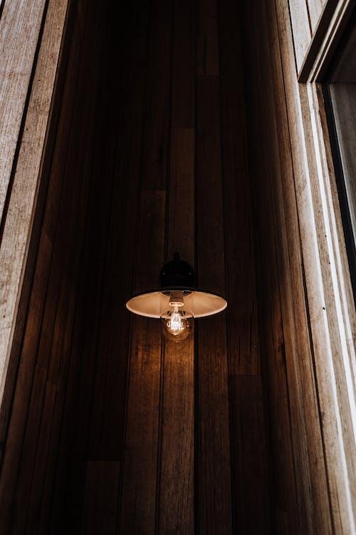 Vintage lamp in dark room
