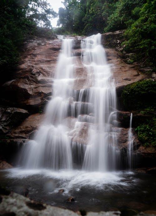 Waterfalls in Brown Rocky Mountain