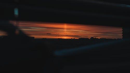 天空, 日落, 晚間, 窗 的 免費圖庫相片