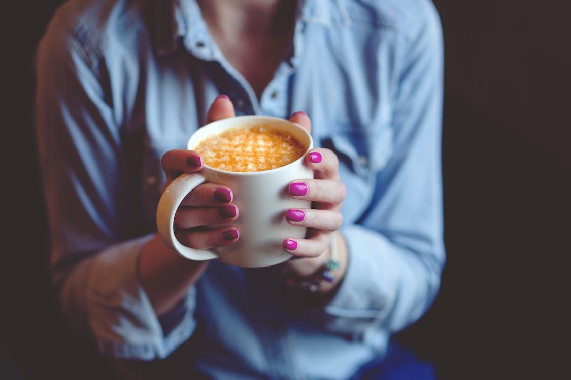 咖啡, 喝, 女性