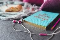 notebook, pencil, blur