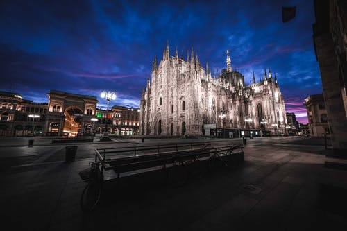 Majestic Gothic Milan Cathedral at night