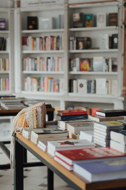 Základová fotografie zdarma na téma detaily, ekologická taška, hromada, kniha