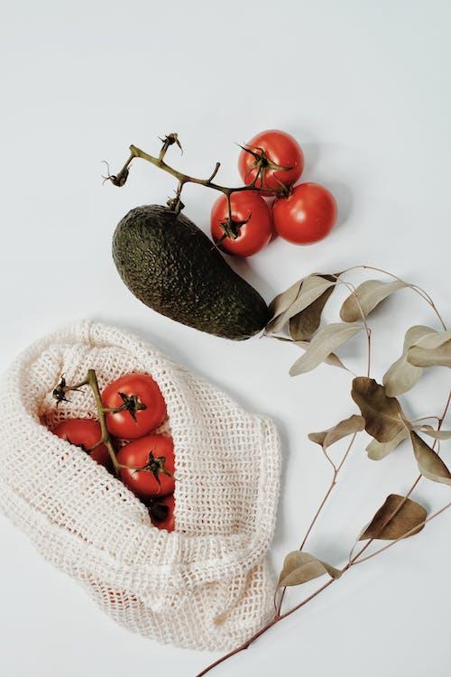 Tomatoes on Burlap Bag