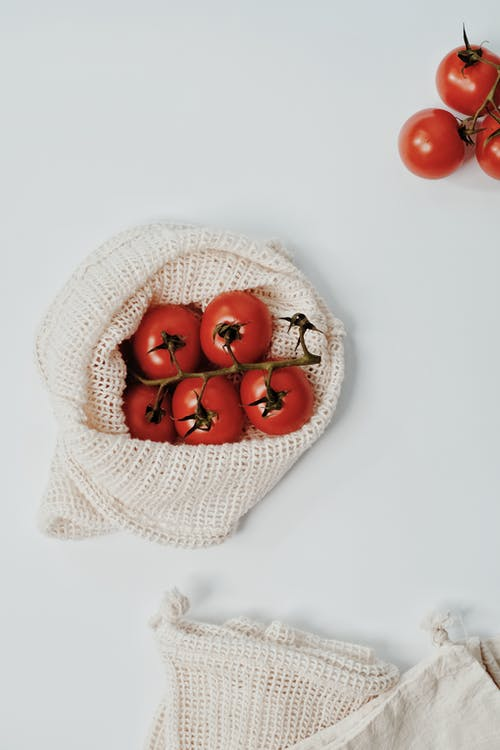 Tomatoes on a Burlap Bag