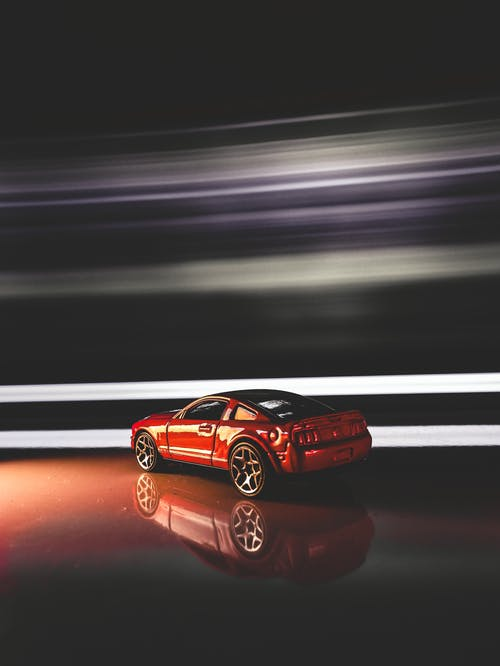 Free stock photo of car toy, long exposure, red