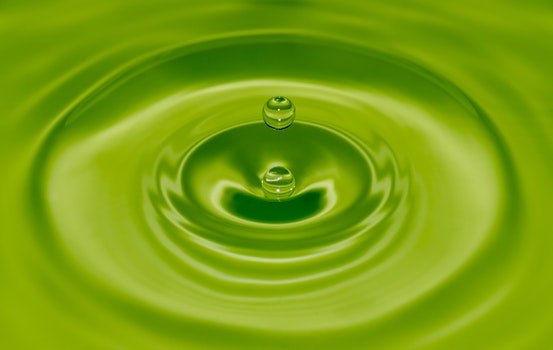 HD wallpaper of water, drop of water, green, ripple