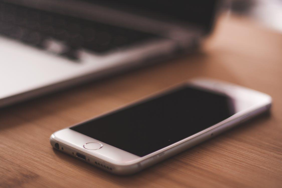 Grey Apple Iphone