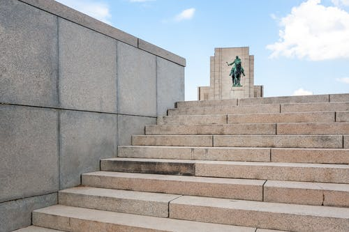 Stone stair in city on daylight