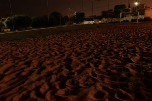Free stock photo of campo de futebol, ondulações de areia