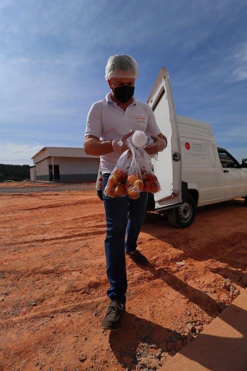 Free stock photo of comida para viagem, coronavirus, embalagem, entregador