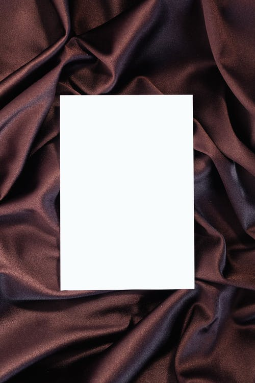 White Paper on Brown Textile