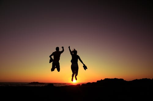 Imagine de stoc gratuită din apus, contur, cuplu fericit