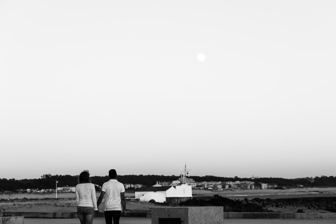 Free stock photo of couple, love, moon