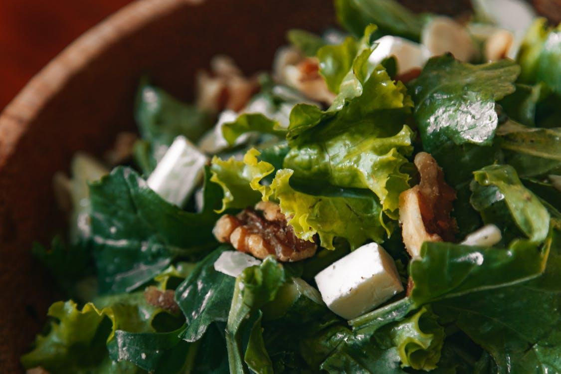 Green Vegetable On Brown Bowl