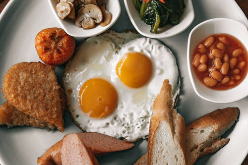 Sunny Side Up Eggs On A Plate