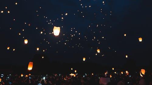 Kostenloses Stock Foto zu abend, astronomie, beleuchtet, dunkel