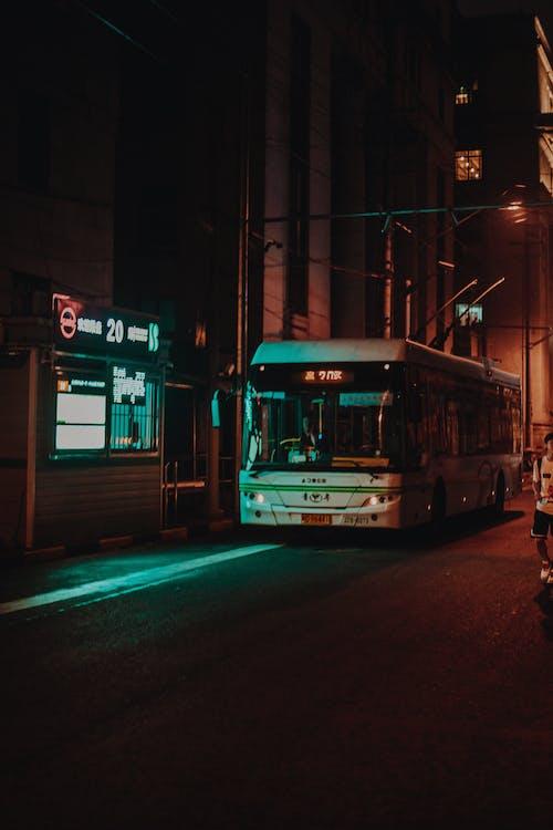 Photos gratuites de action, autobus, brouiller, bus