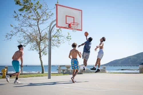 Immagine gratuita di basket, giocatori di pallacanestro, spiaggia