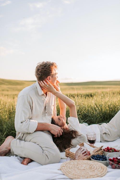 Romantic Couple Having a Picnic