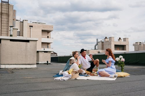 People At A Rooftop