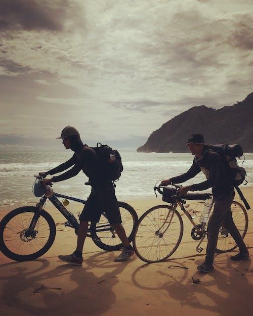 Gratis stockfoto met strand fietsen