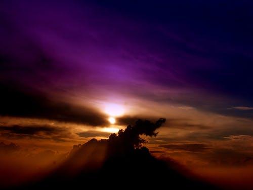 Gratis lagerfoto af himmel, natur, sol, solnedgang