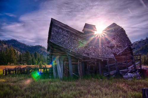 Free stock photo of barn, Sun Rise