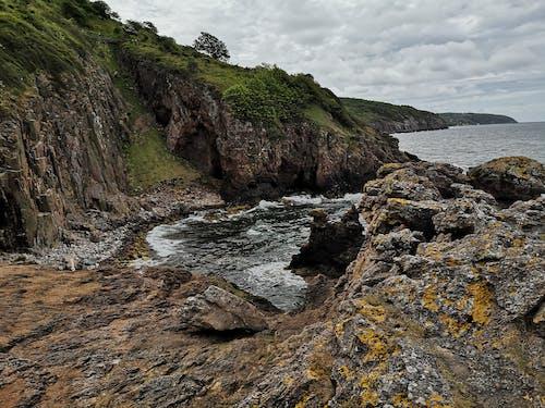 Free stock photo of beach, rocks, sky, water
