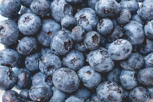 Close-up Shot Of Blueberries