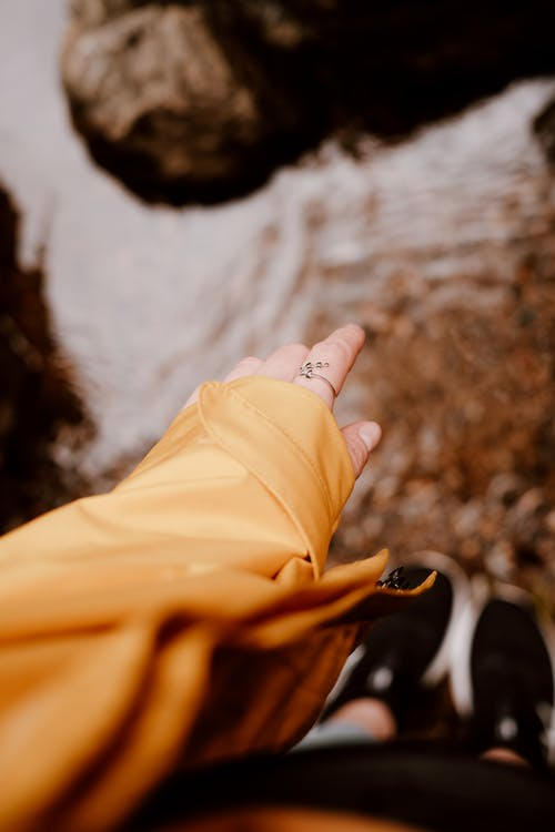 Person In Yellow Leather Jacket