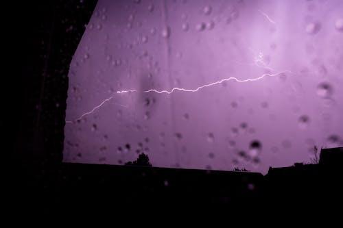Free stock photo of lightning, purple, storm, summer