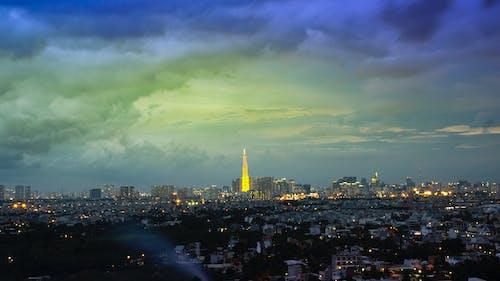 Fotos de stock gratuitas de cielo azul, ciudad, ciudad lejos, Gran ciudad