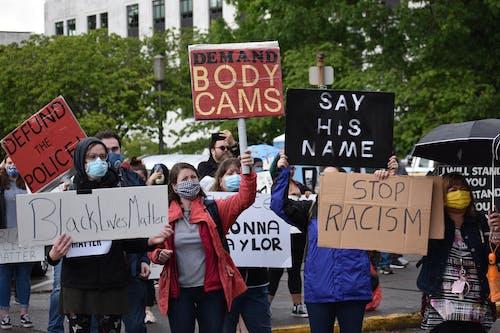 Fotos de stock gratuitas de acabar con el racismo sistémico, acabar con la brutalidad policial, acto electoral