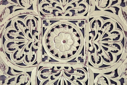 White and Black Floral Pattern