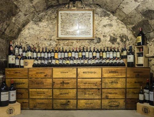勃艮第, 地窖, 復古收藏, 木箱 的 免费素材照片