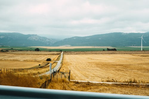 Gratis lagerfoto af afgrøde, agerjord, bakke, bane