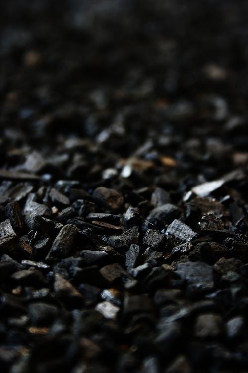 Základová fotografie zdarma na téma brikety, dřevěné uhlí, rozostření, uhlí