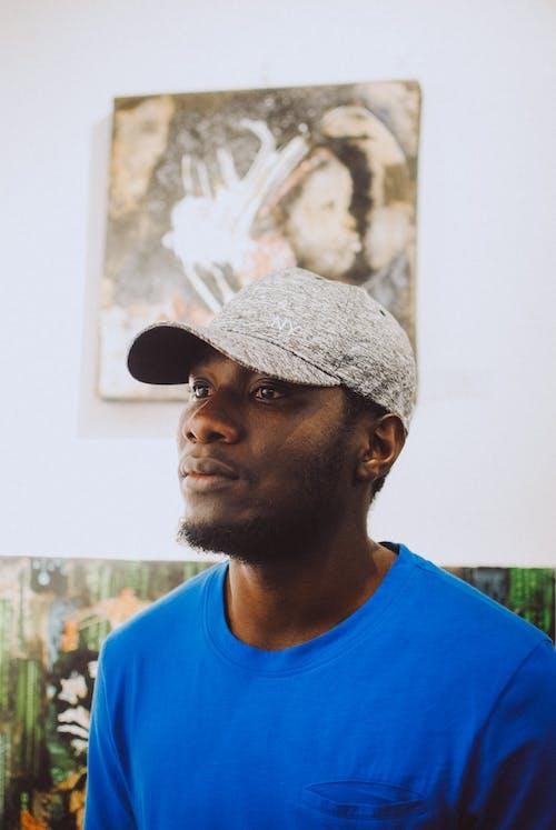 Kostenloses Stock Foto zu afroamerikanischer mann, aufmerksam, aussehen