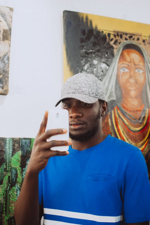 Kostenloses Stock Foto zu afroamerikanischer mann, betrachten, bild