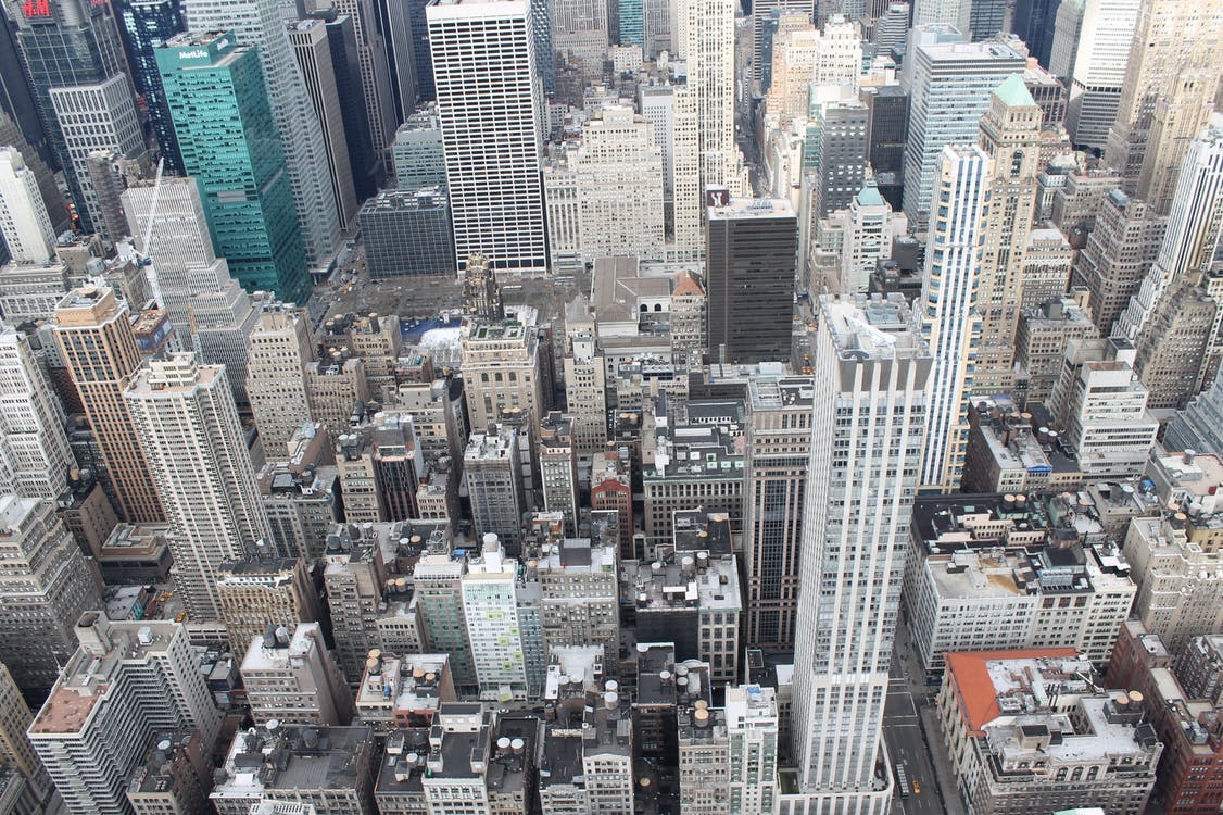 bắn từ trên không, các tòa nhà, Newyork
